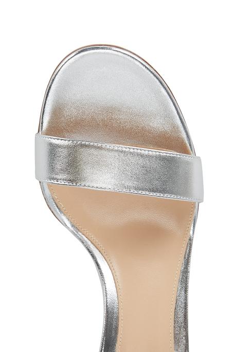 26331389b43d Gianvito Rossi Versilla 50 silver leather sandals - Harvey Nichols