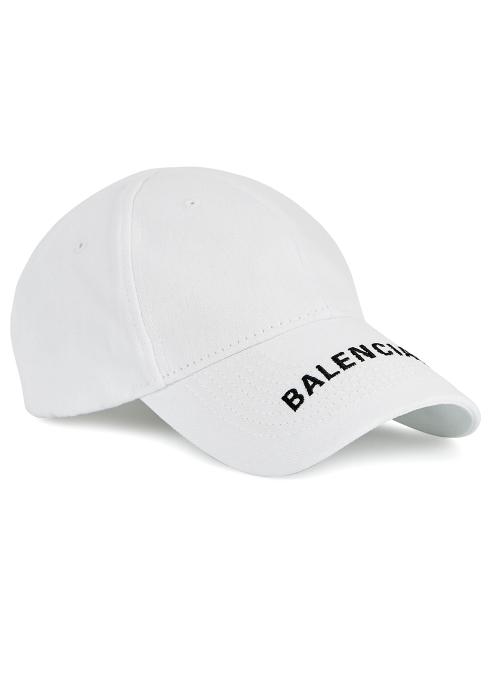 16e5f44975fd1 Balenciaga Logo-embroidered cotton twill cap - Harvey Nichols