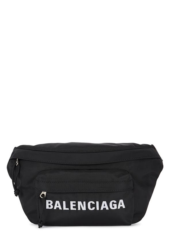 26acf73bd087 Black logo-embroidered nylon belt bag ...
