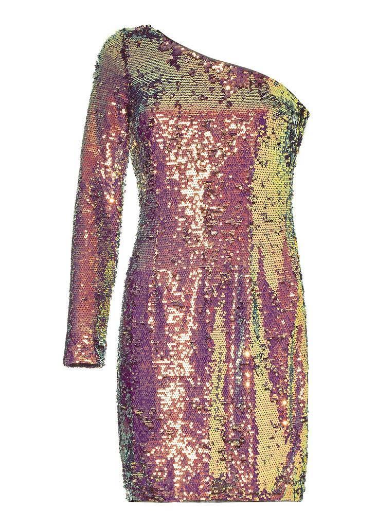 AIDAN One Shoulder Sequin Dress