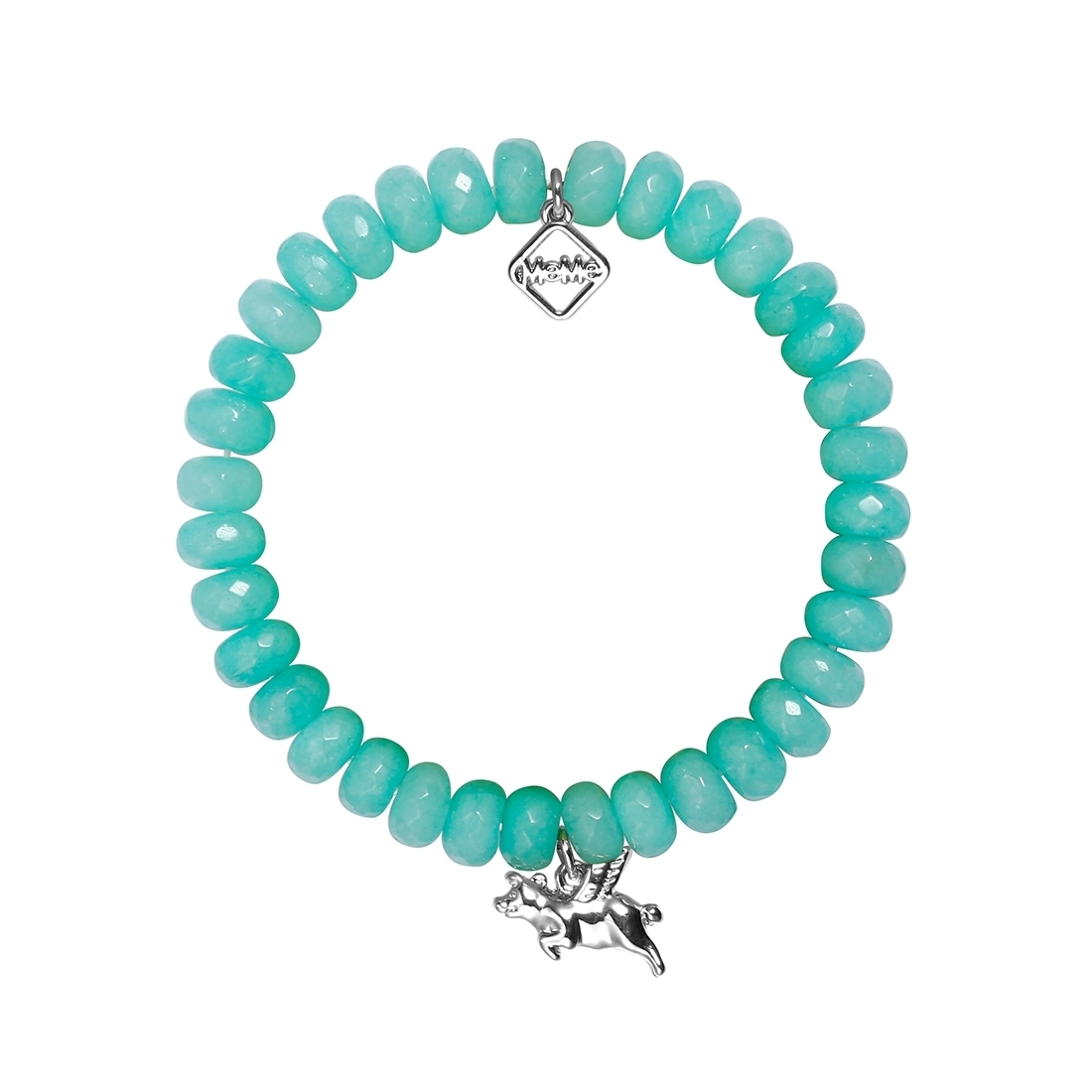 MEME LONDON When Pigs Fly - Mint Turquoise With White Gold