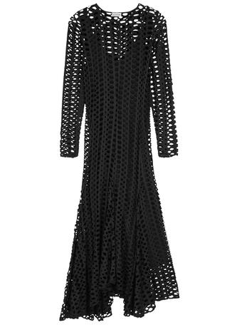 1609be14dee2 Black distressed jersey midi dress Black distressed jersey midi dress. BY  MALENE BIRGER. Black distressed ...
