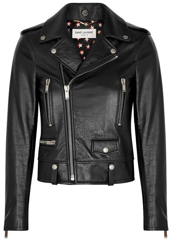 67f087537373 Black leather jacket Black leather jacket. New Season. Saint Laurent. Black  leather jacket. £3