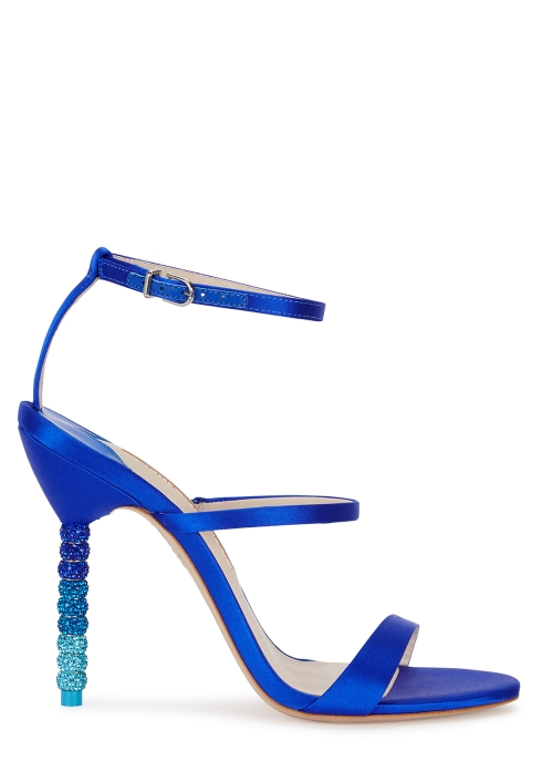 46797fbdd03 Sophia Webster Rosalind 100 cobalt blue satin sandals - Harvey Nichols