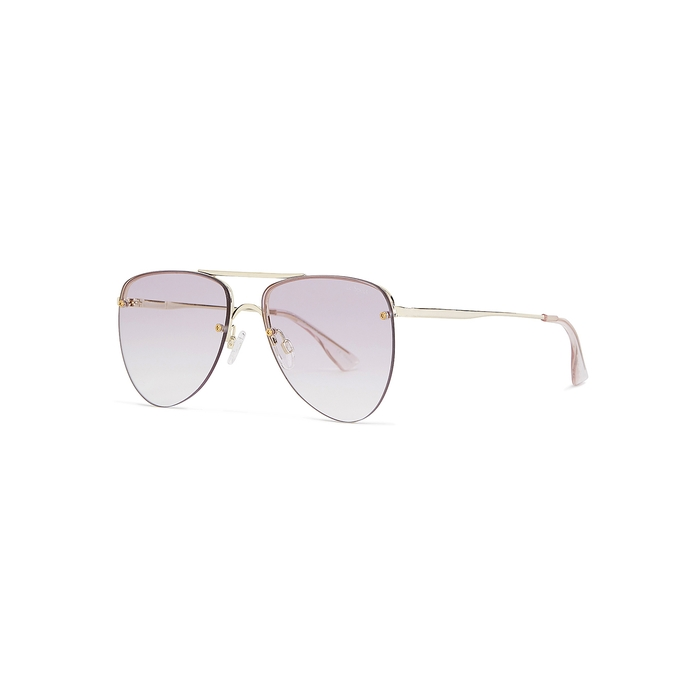 0175f9d92c99 Le Specs The Prince Aviator-Style Sunglasses In Gold