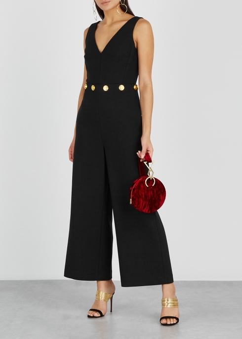 e407071fcd5d Tory Burch Fremont embellished wide-leg jumpsuit - Harvey Nichols