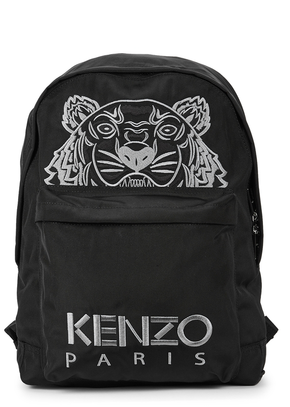 Black Tiger Embroidered Backpack