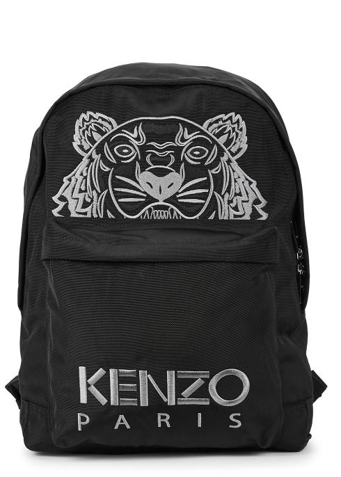 b41322bba3 Kenzo Black tiger-embroidered backpack - Harvey Nichols