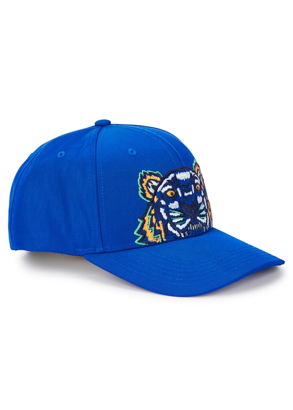 a55a27fd42e Tiger-embroidered canvas twill cap ...