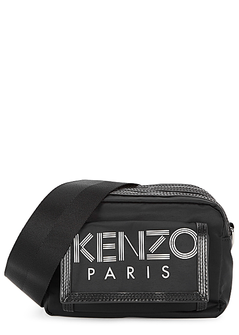 781b7d11 Kenzo Black logo nylon shoulder bag - Harvey Nichols