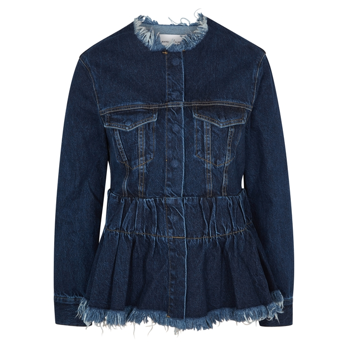 Marques' Almeida Dark blue peplum denim jacket