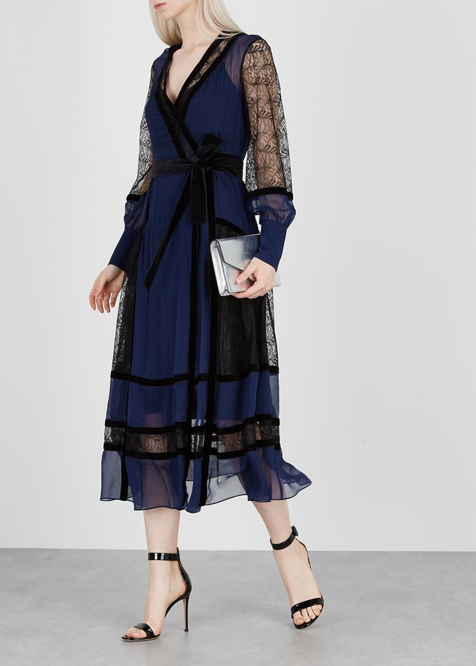 ac97d2d255e73 Diane von Furstenberg Forrest lace and silk chiffon midi dress - Harvey  Nichols