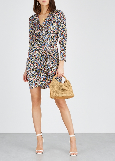 dfc448bd772 Veronica Beard Minna printed stretch-silk mini dress - Harvey Nichols