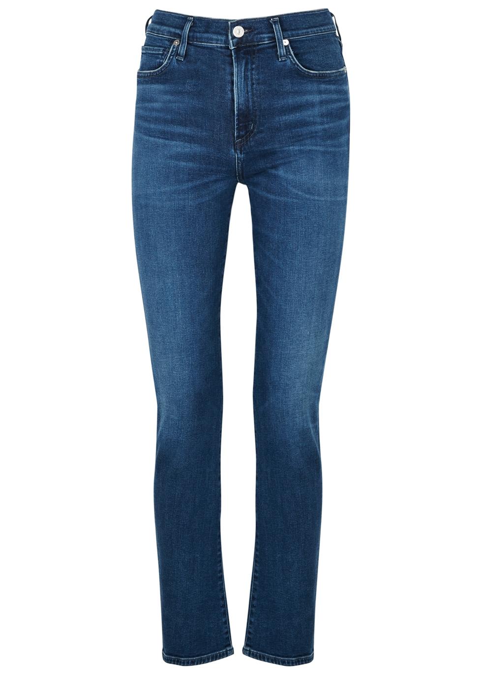 Harlow Sculpt blue slim-leg jeans