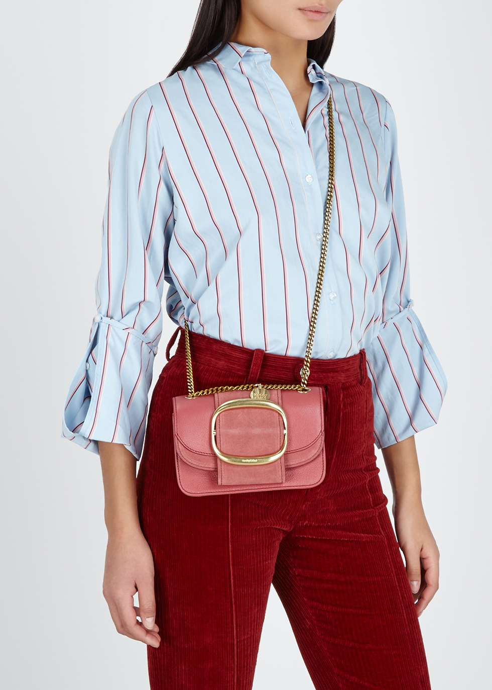 50cb3a655889 See by Chloé Hopper small leather cross-body bag - Harvey Nichols