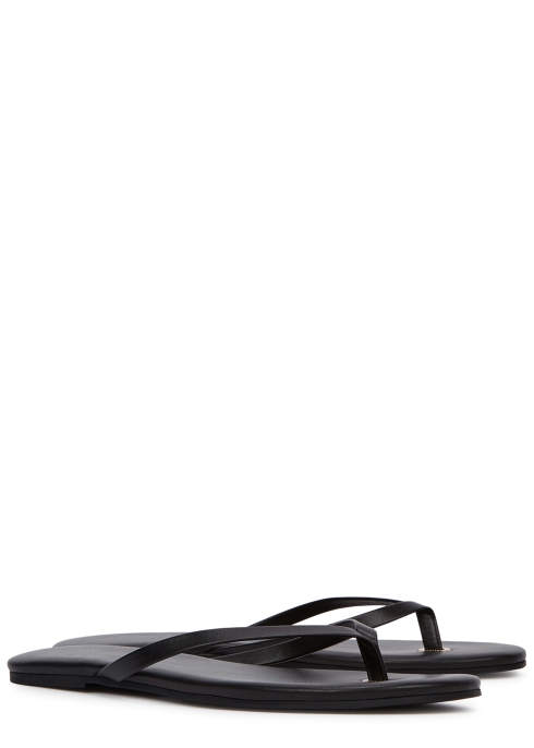 87f6758f0 Melissa Odabash Black leather sandals - Harvey Nichols