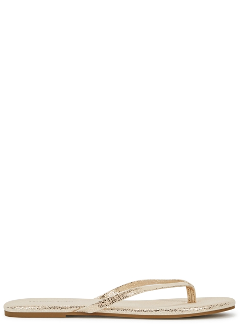 f42e98b10 Melissa Odabash Gold flecked leather sandals - Harvey Nichols