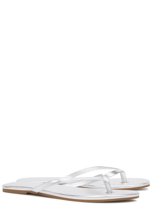 f416525b3 Melissa Odabash Silver leather sandals - Harvey Nichols