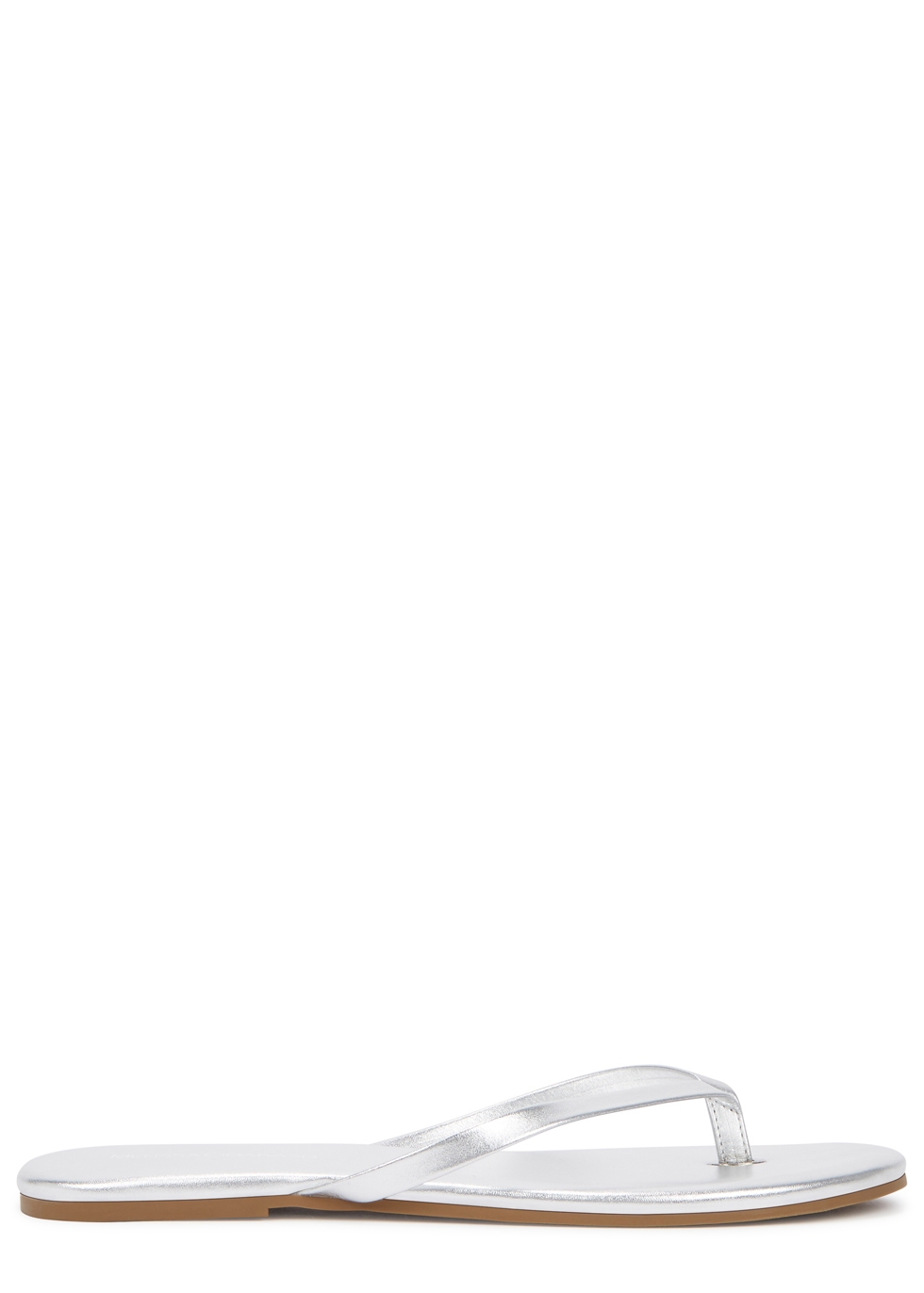 7e3bf3fd6 Melissa Odabash Silver leather sandals - Harvey Nichols