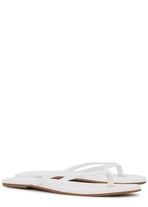eb6e533fc Melissa Odabash White leather sandals - Harvey Nichols