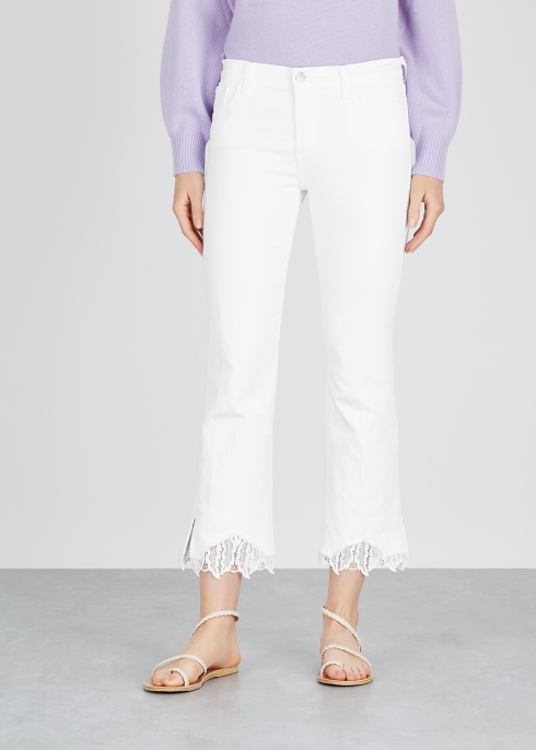 57fc1bf22a016 J Brand Selena white cropped jeans - Harvey Nichols