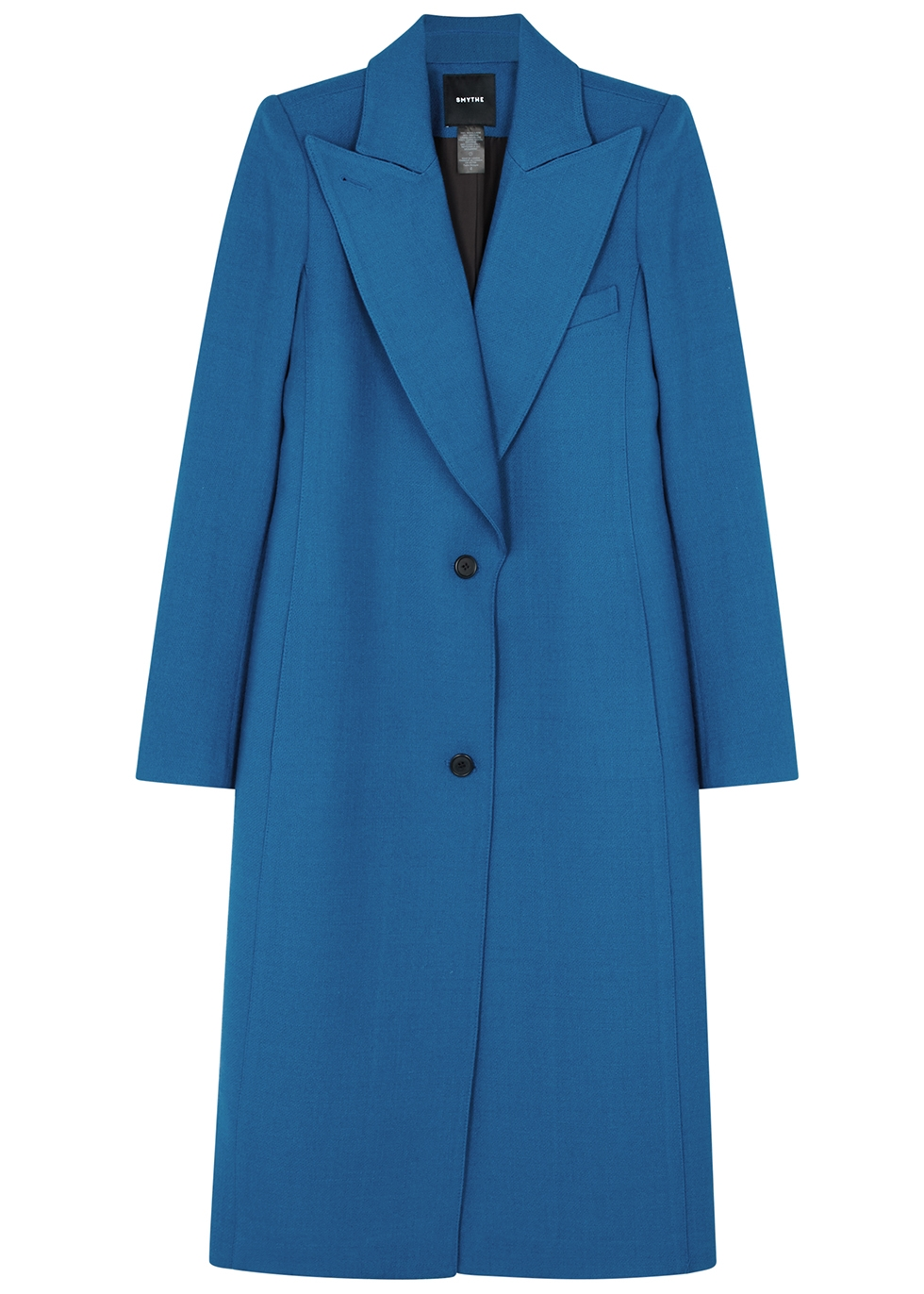 Blue wool-blend coat - Smythe
