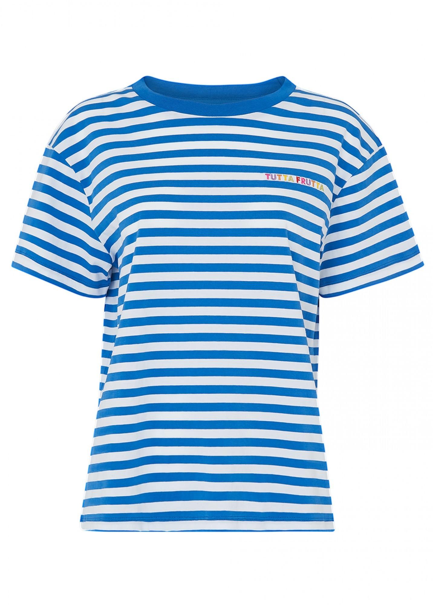 KITRI | Kitri Tutta Frutta Blue Stripe T-Shirt | Goxip