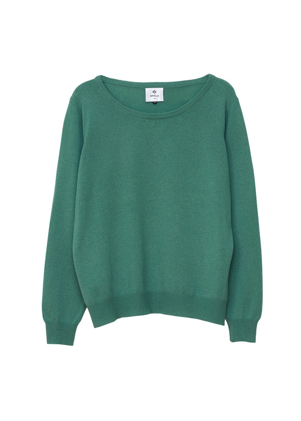 ARELA Laine Cashmere Sweater In Sage Green