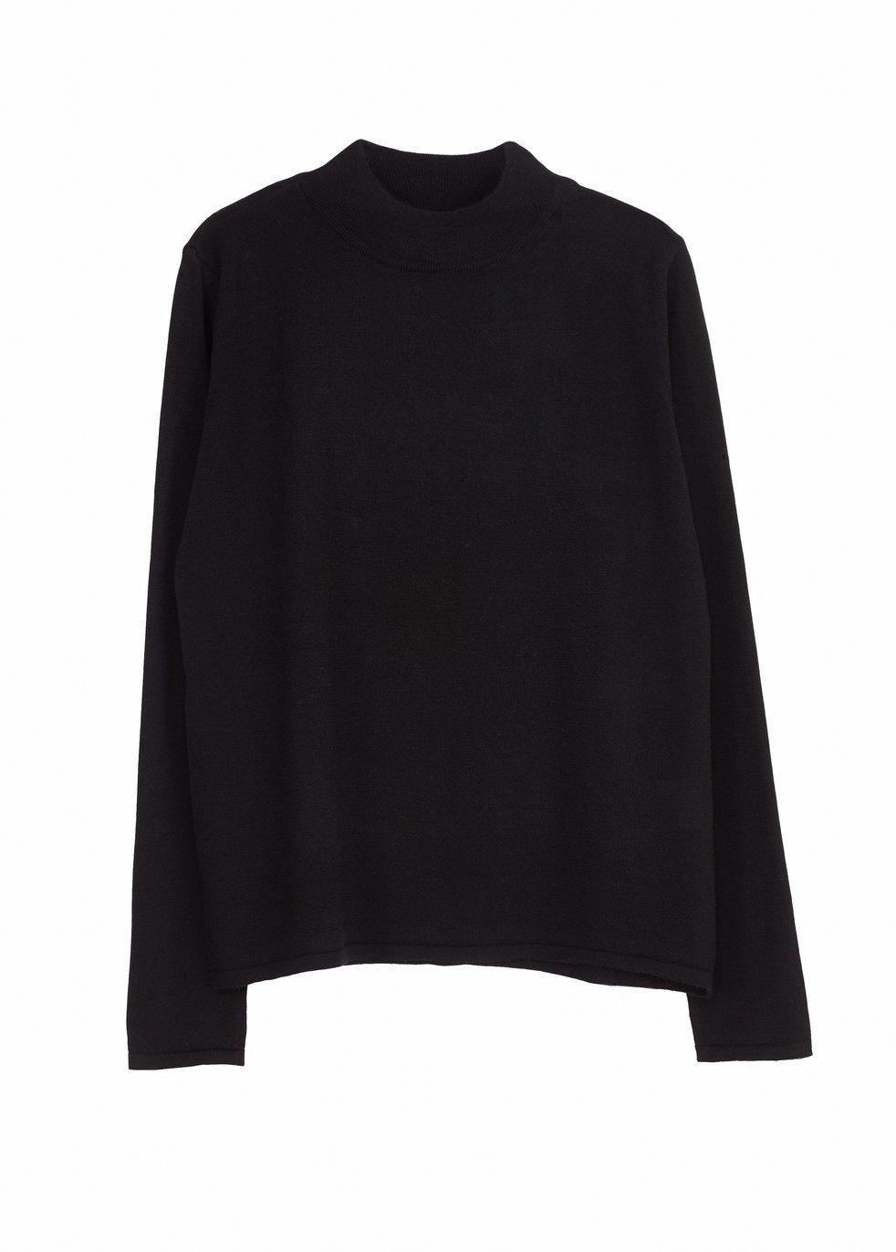ARELA Joan Merino Wool Sweater In Black