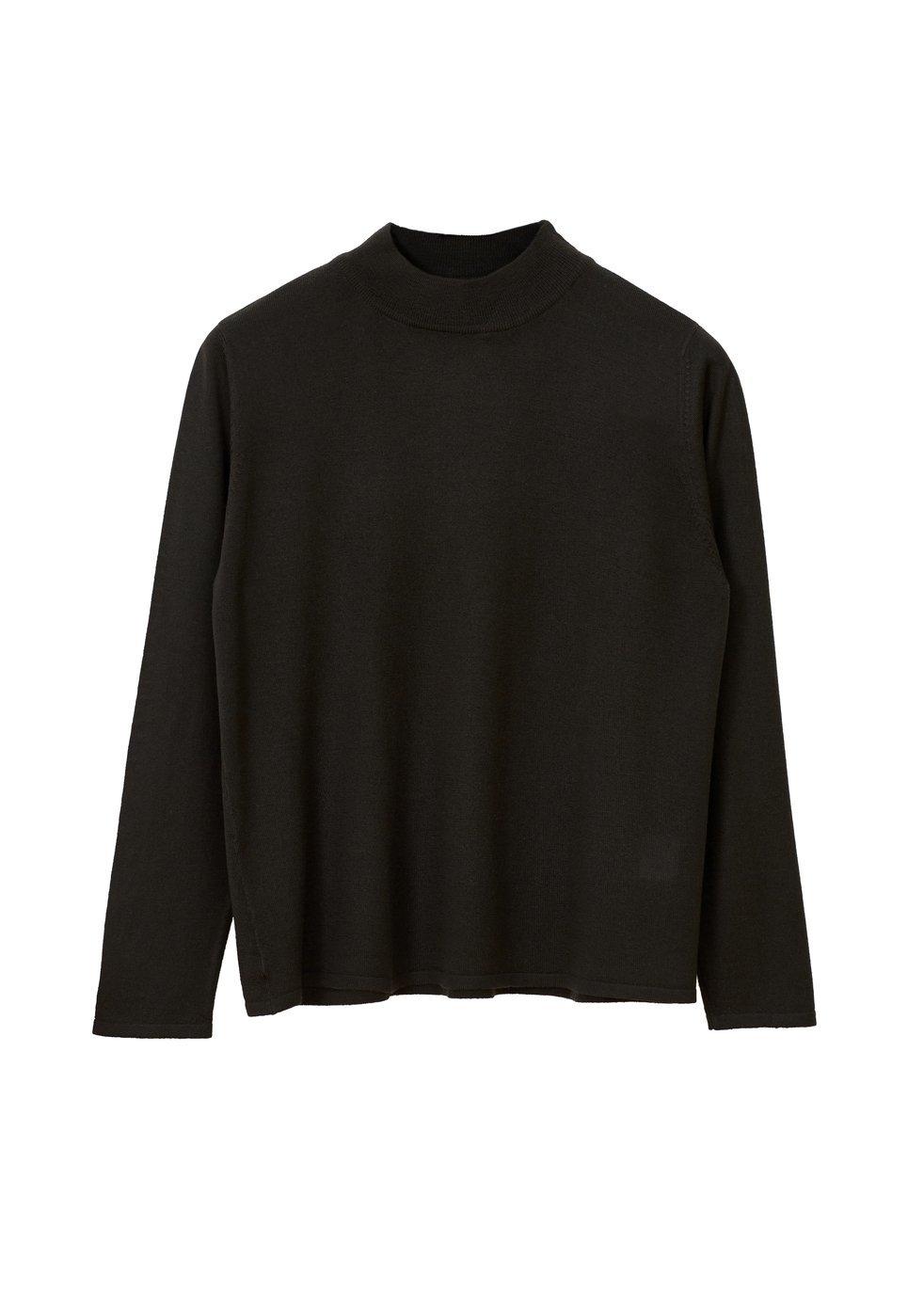 ARELA Joan Merino Wool Sweater In Dark Grey