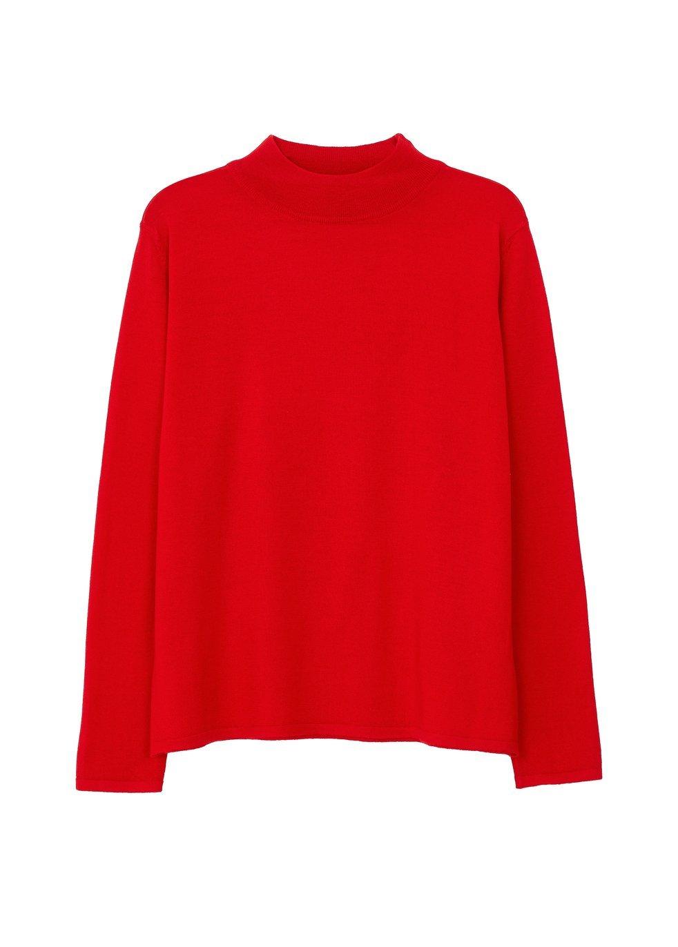 ARELA Joan Merino Wool Sweater In Red