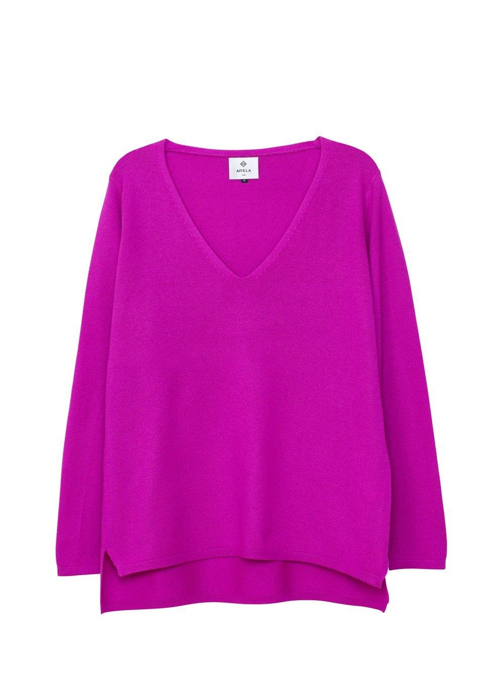 ARELA Vija Cashmere Sweater In Bright Pink