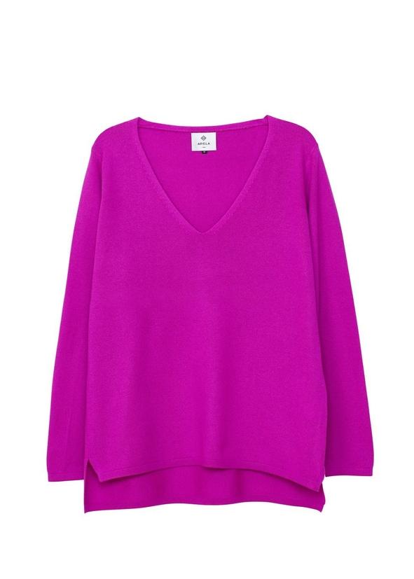 c48f9cb28ea Vija cashmere sweater in bright pink ...