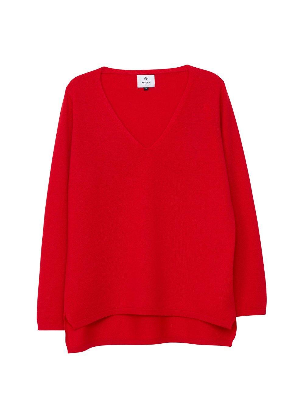 ARELA Vija Cashmere Sweater In Red
