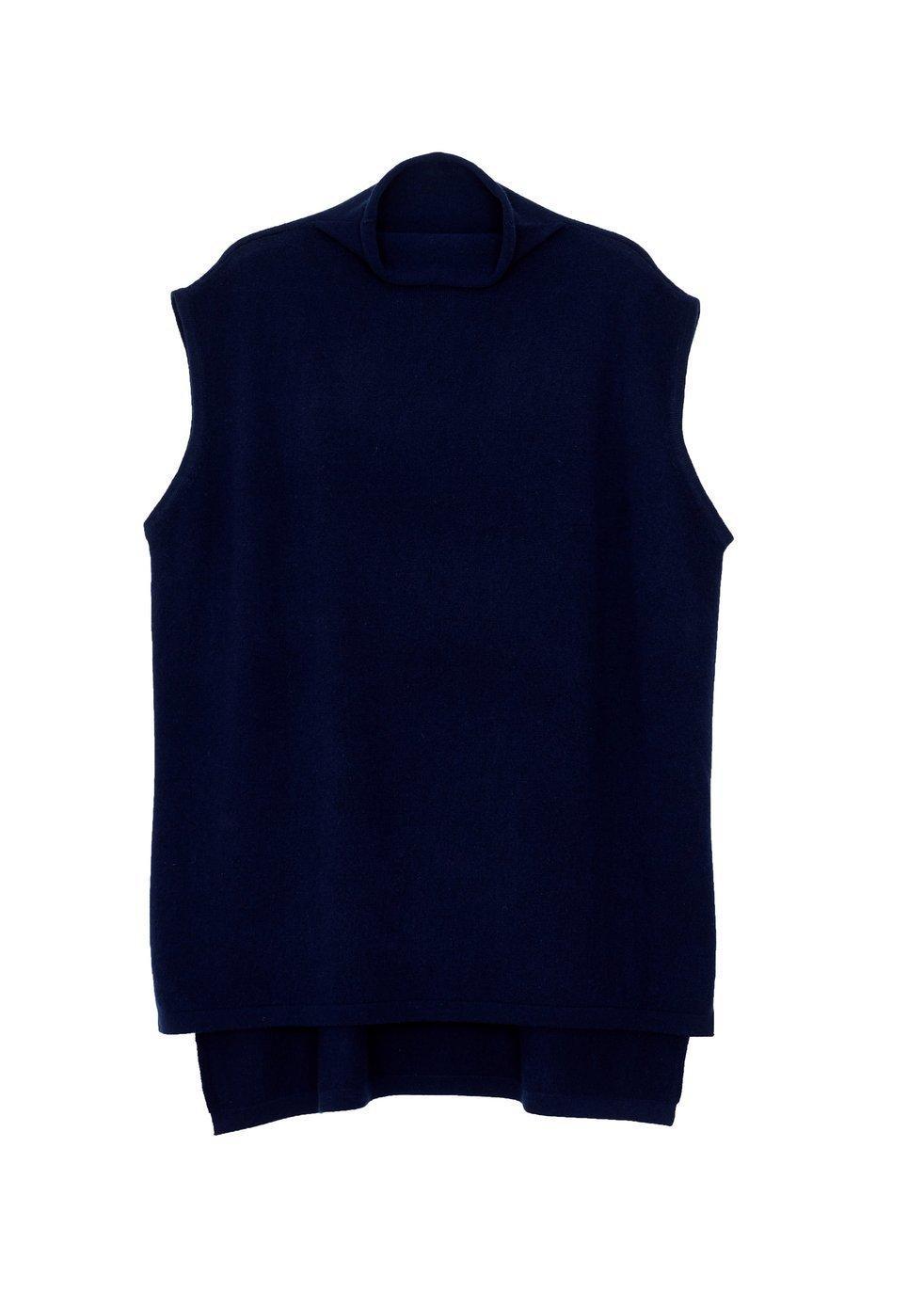 ARELA Noya Cashmere Vest In Dark Blue