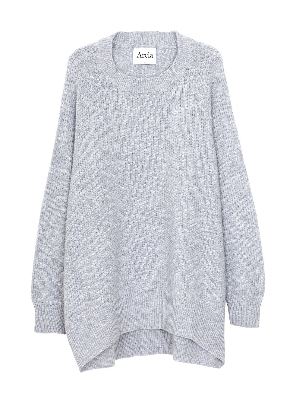 ARELA Disa Cashmere Sweater In Light Grey