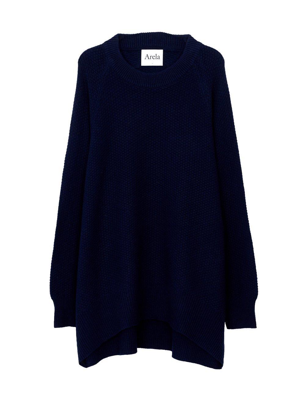 ARELA Disa Cashmere Sweater In Dark Blue
