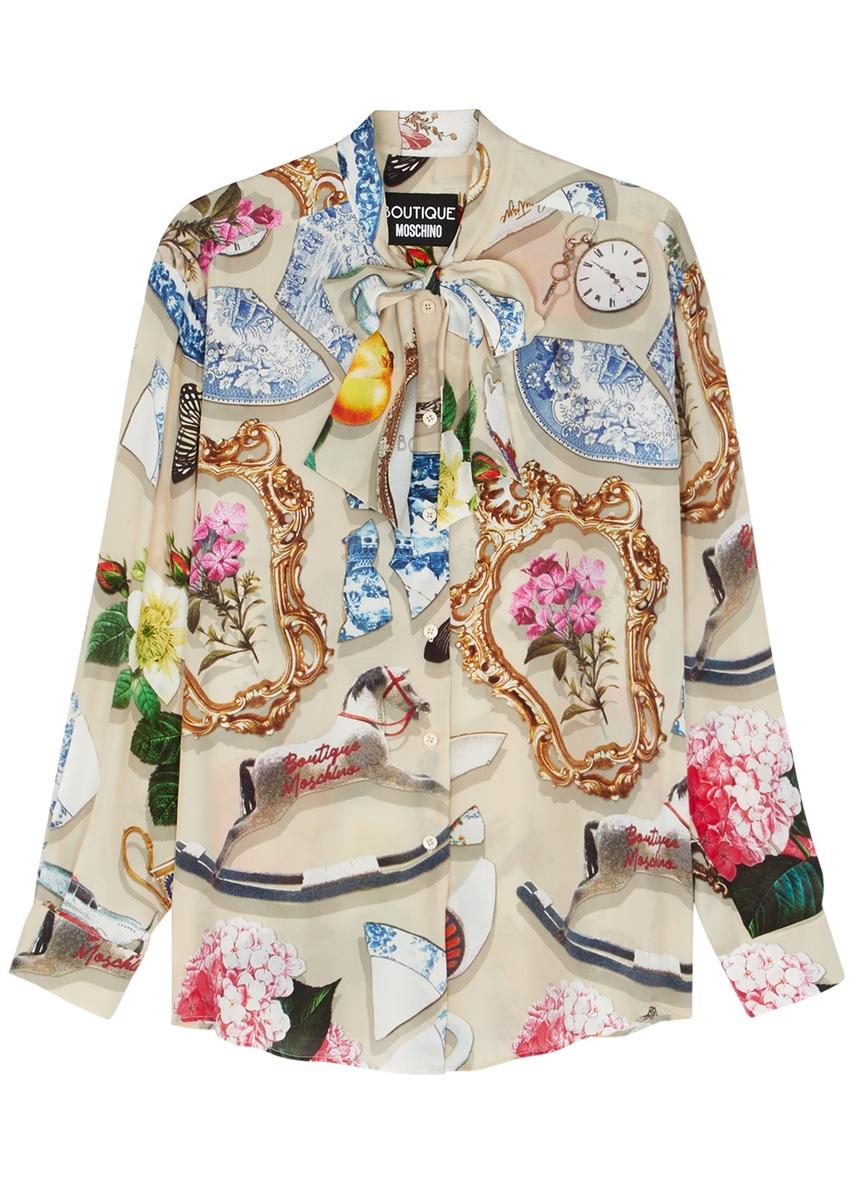 5cf17cf7a07d5 Printed satin blouse Printed satin blouse