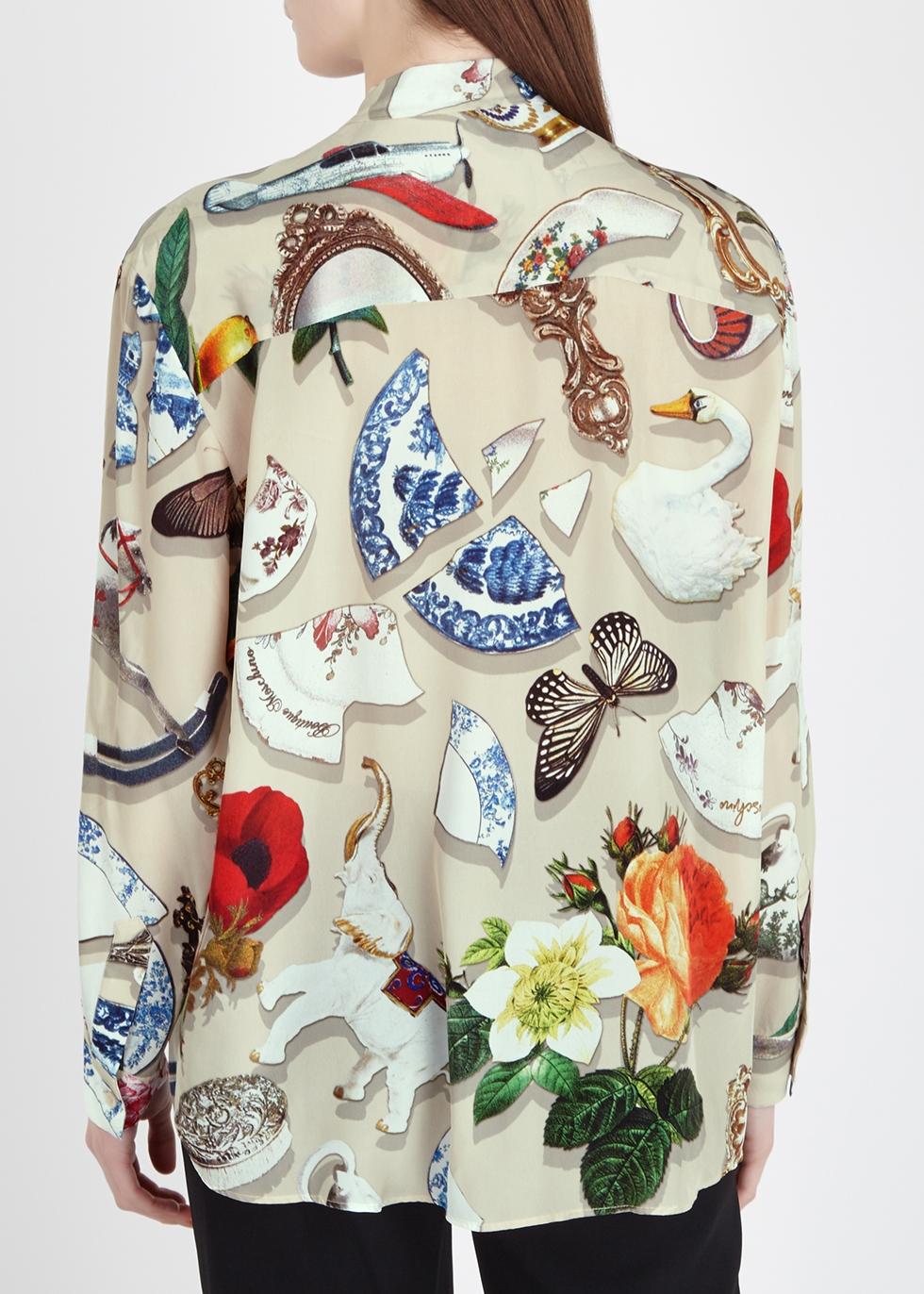 Printed satin blouse - Boutique Moschino
