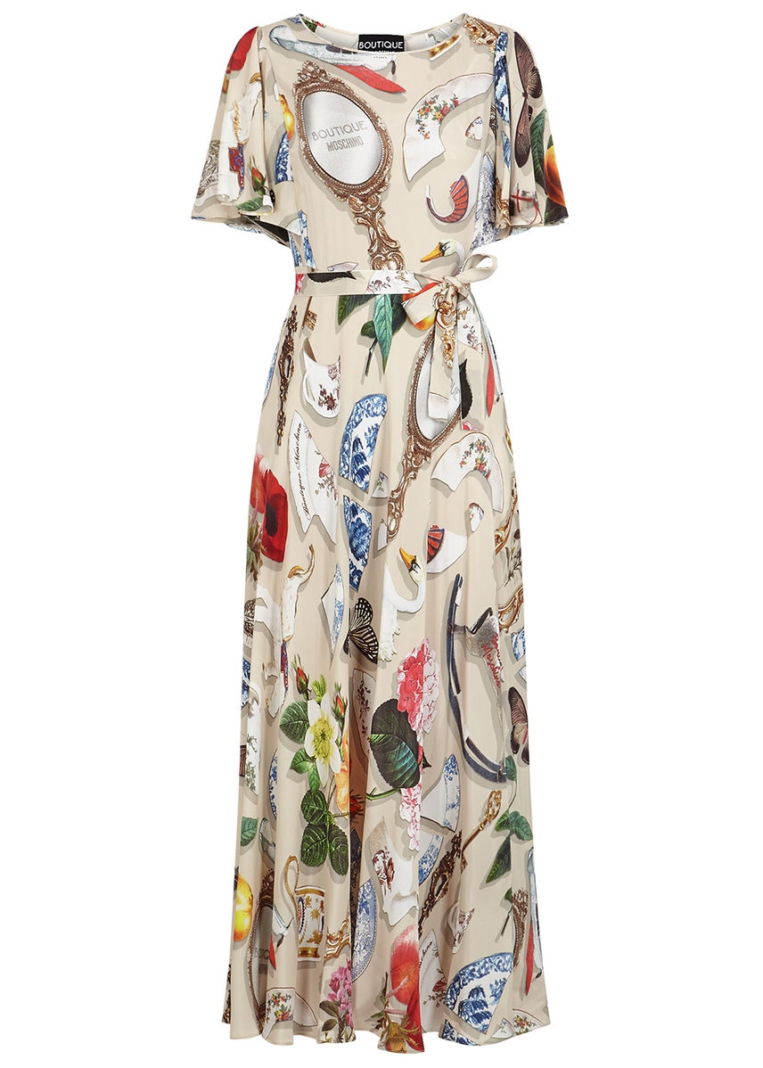 b95ad34a98c Printed crepe de chine maxi dress ...