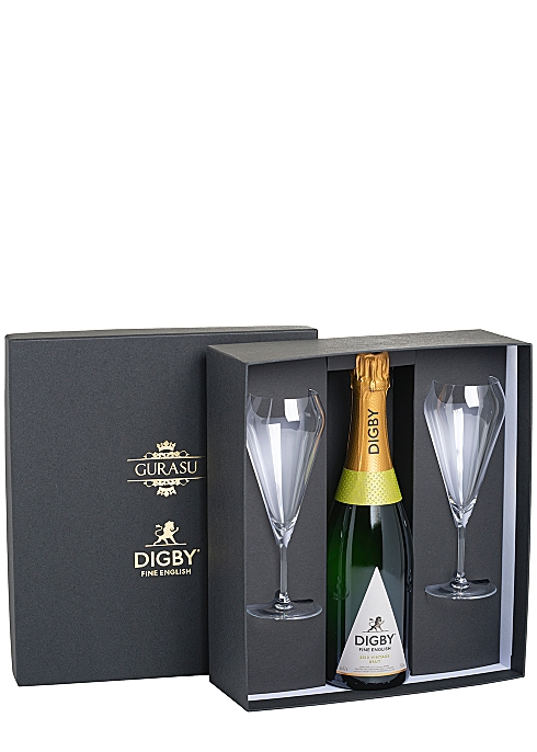 DIGBY The Digby English Sparkling Wine Glass by Gurasu London Gift Set