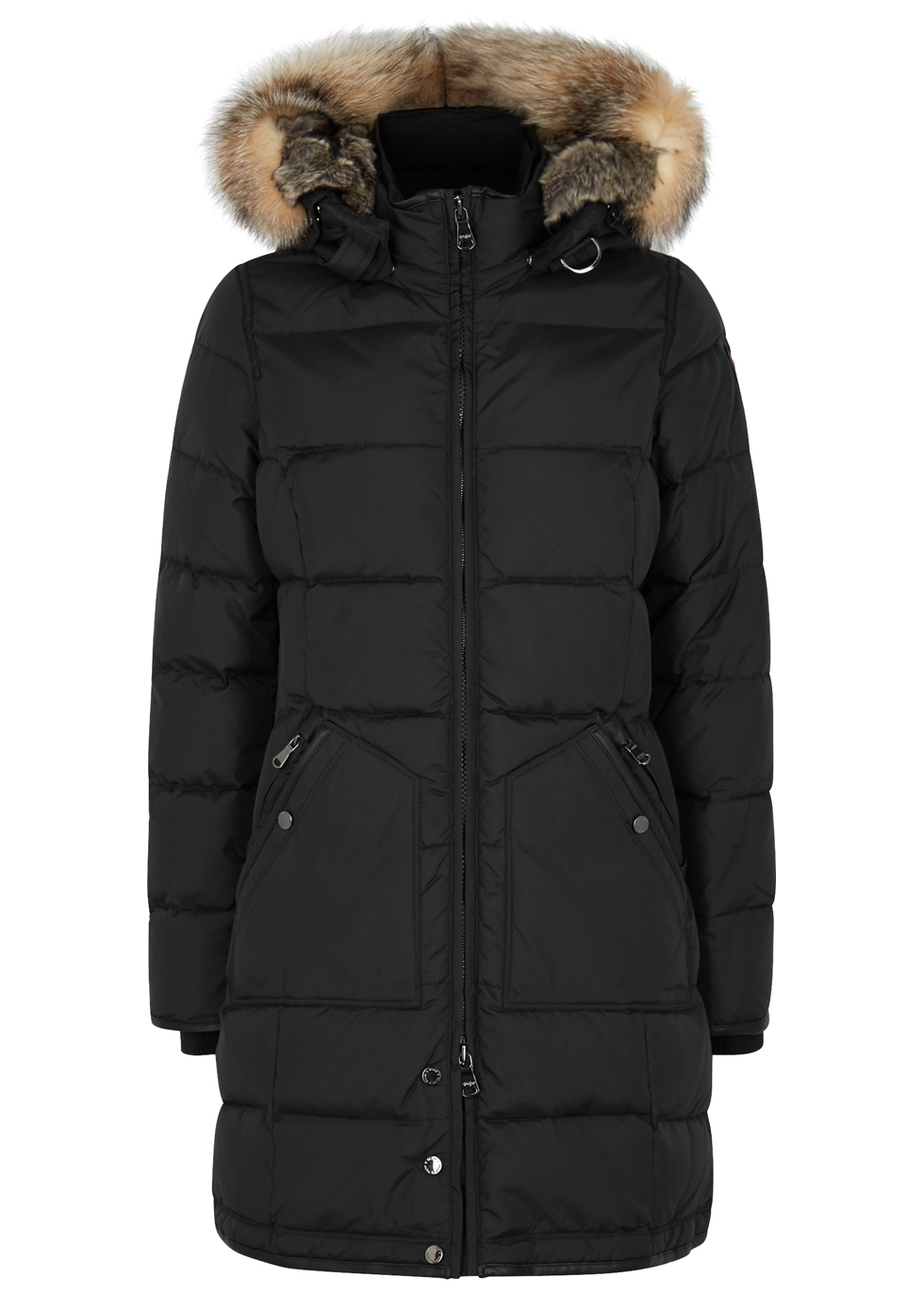 PAJAR Panther Black Fur-Trimmed Shell Coat