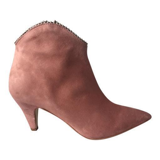 Pamela Cowboy Boots Blush