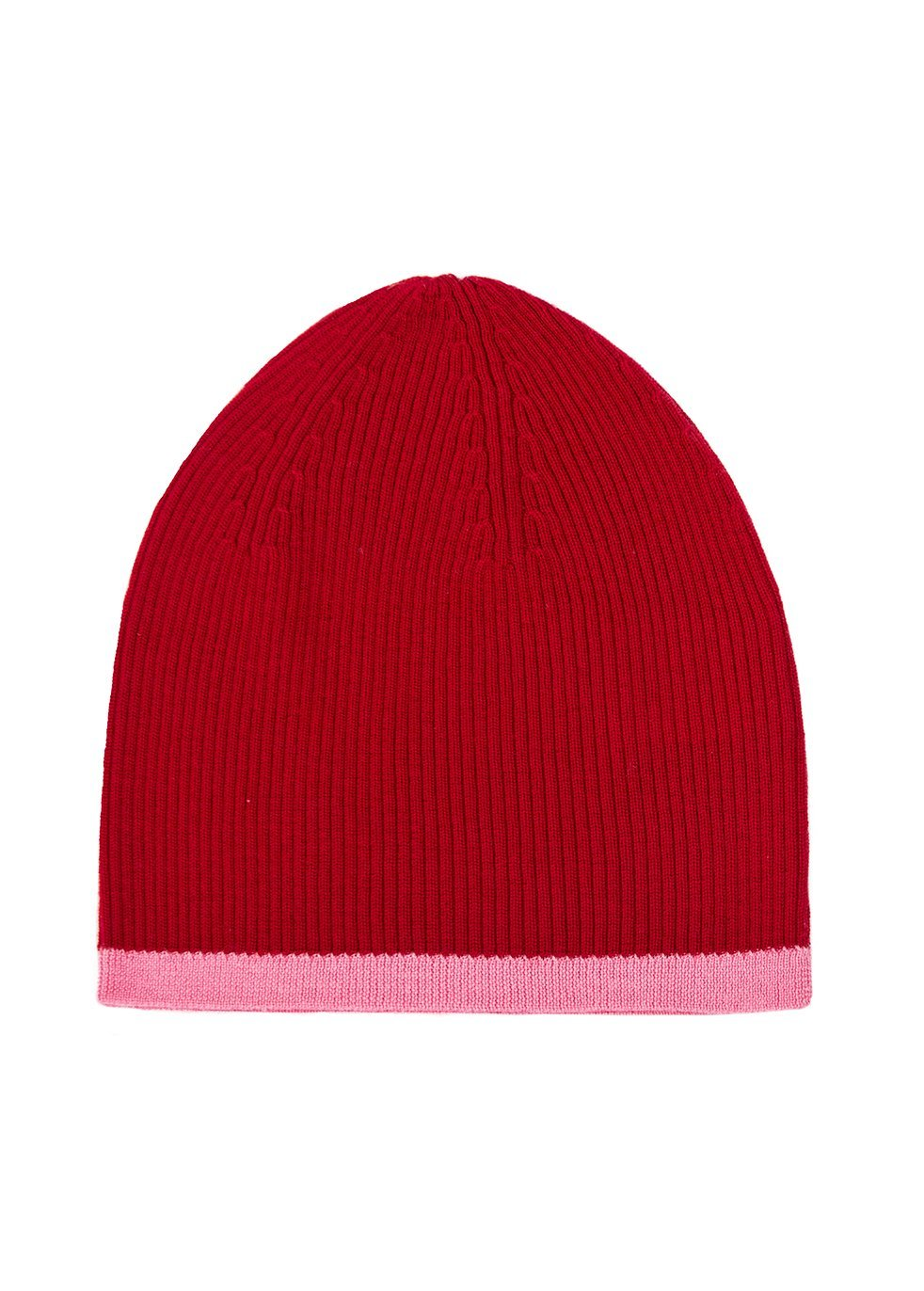 Merino Beanie Hat Cherry & Flamingo in Red