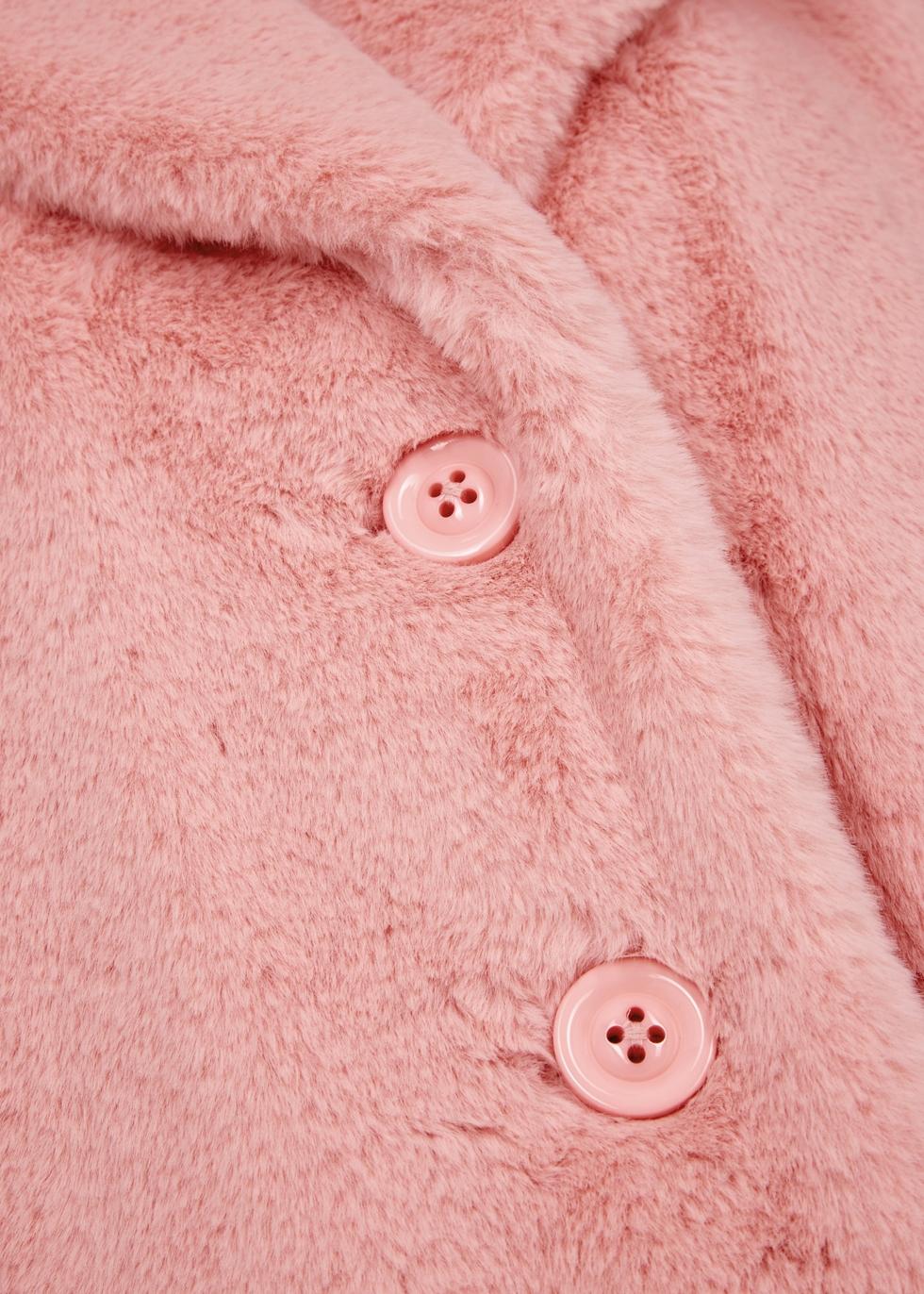 Foster pink faux fur coat - Alice + Olivia
