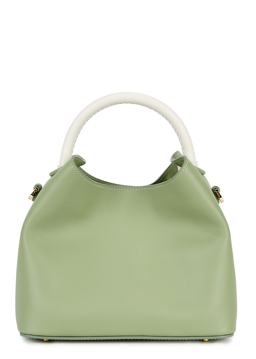 ELLEME Baozi Mint Green Leather Shoulder Bag