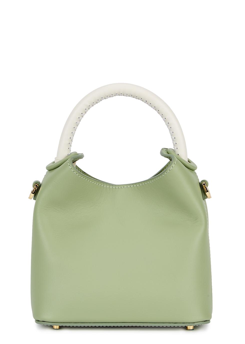 ELLEME Madeleine Mini Leather Cross-Body Bag in Green