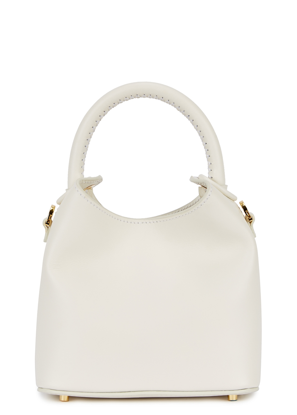 ELLEME Madeleine Mini Leather Cross-Body Bag in White