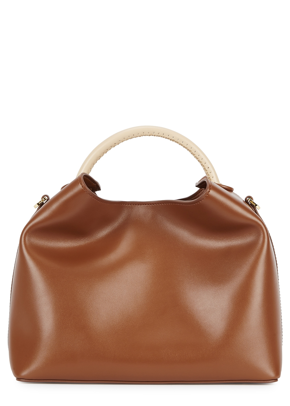 ELLEME Raisin Brown Leather Shoulder Bag