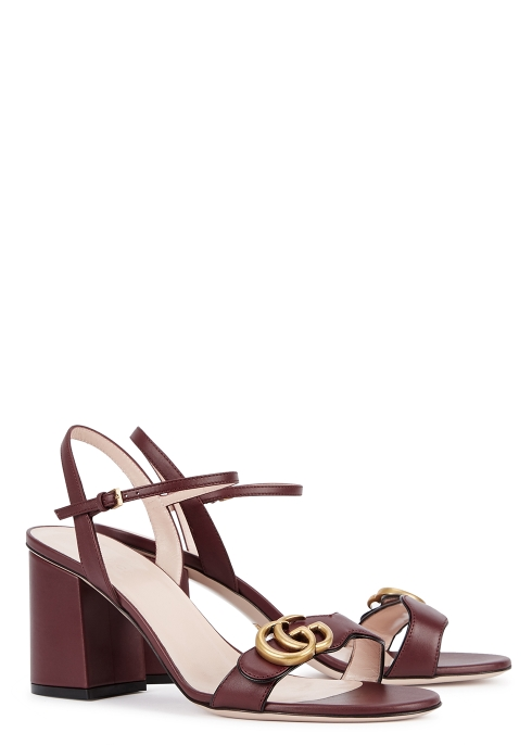 86520264fef76b Gucci GG Marmont 75 bordeaux leather sandals - Harvey Nichols